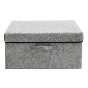 FLY-boite avec couvercle 40x20 cm gris/noir