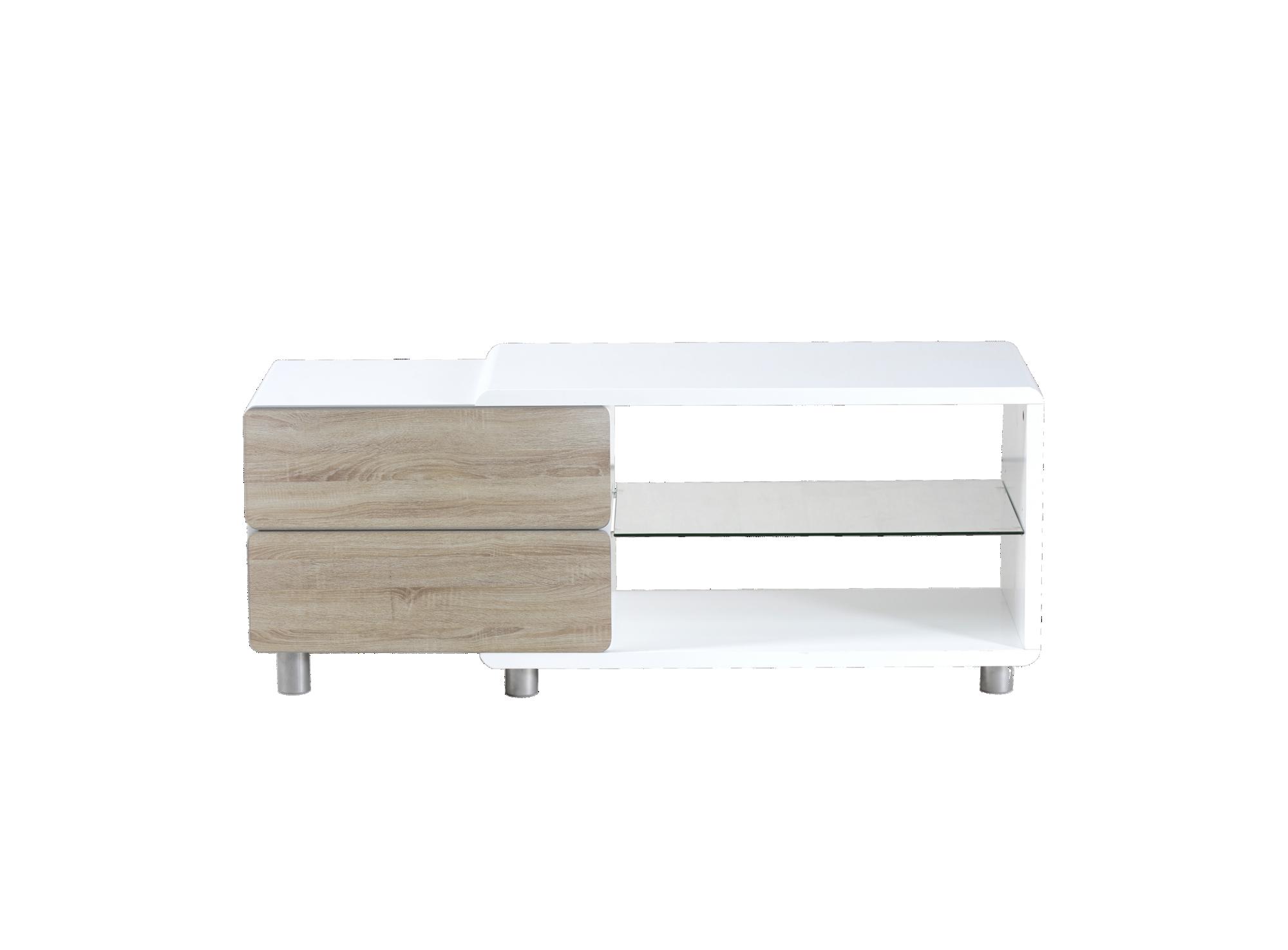 Meuble tv stand 2 tiroirs structure en panneau de fibres de moyenne d ...