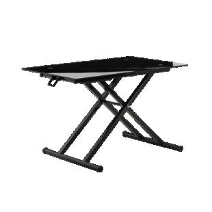 FLY-table basse ascenseur plateau verre coloris noir