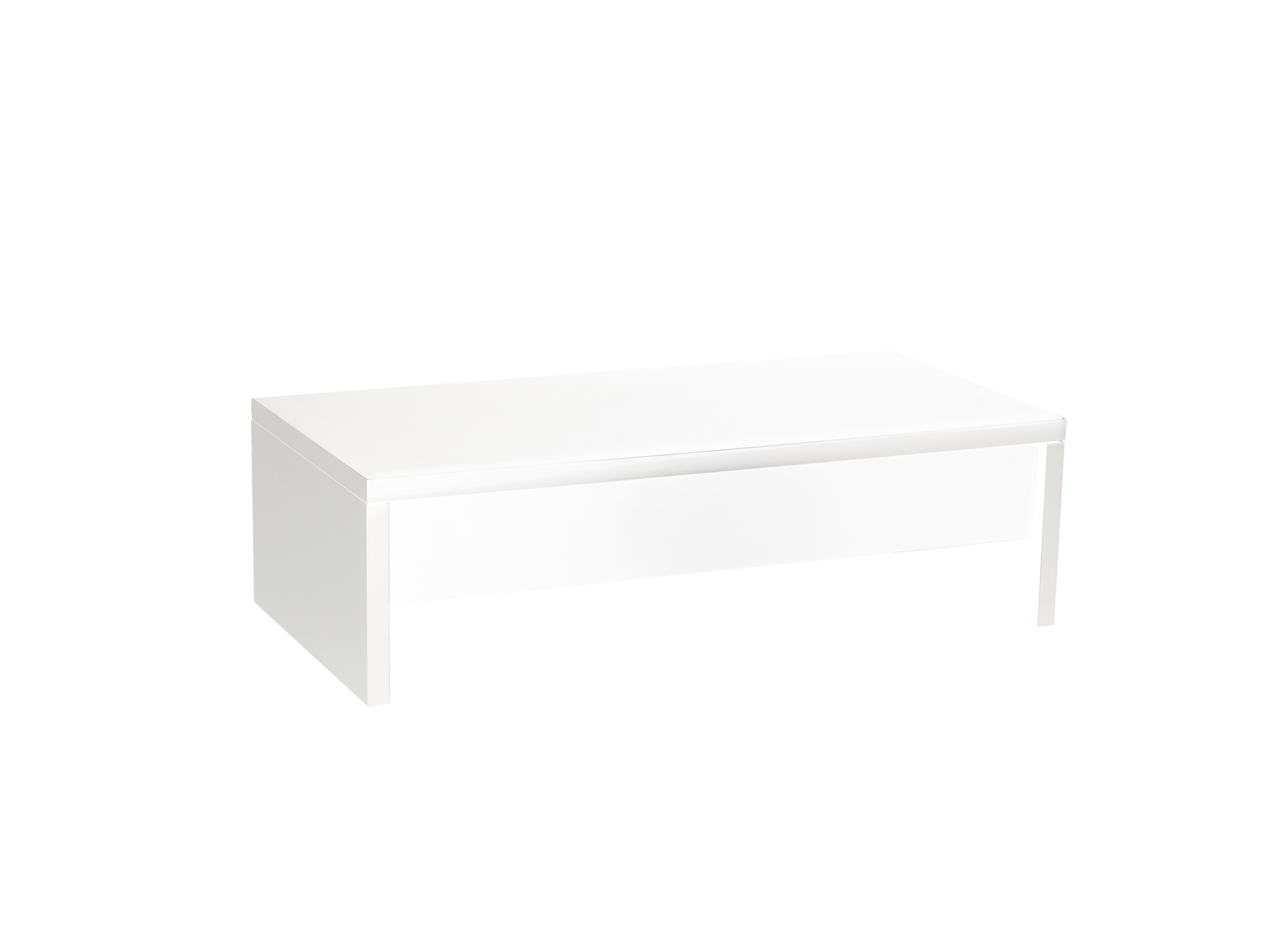 Table Basse Plateau Relevable Coloris Blanc Fly