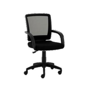 FLY-fauteuil de bureau sur roulettes mesh noir/gris