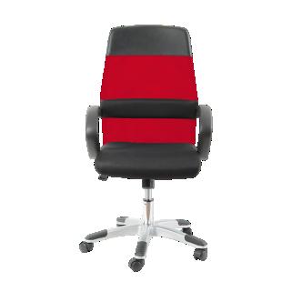 FLY-fauteuil de bureau mech noir/rouge