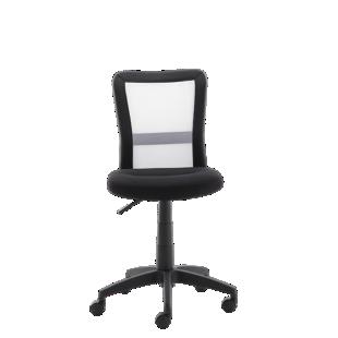 FLY-chaise de bureau sur roulettes noir/blanc