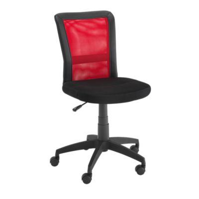 Chaise de bureau sur roulettes noirrouge Chaise de bureau