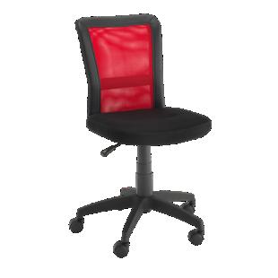 FLY-chaise de bureau sur roulettes noir/rouge