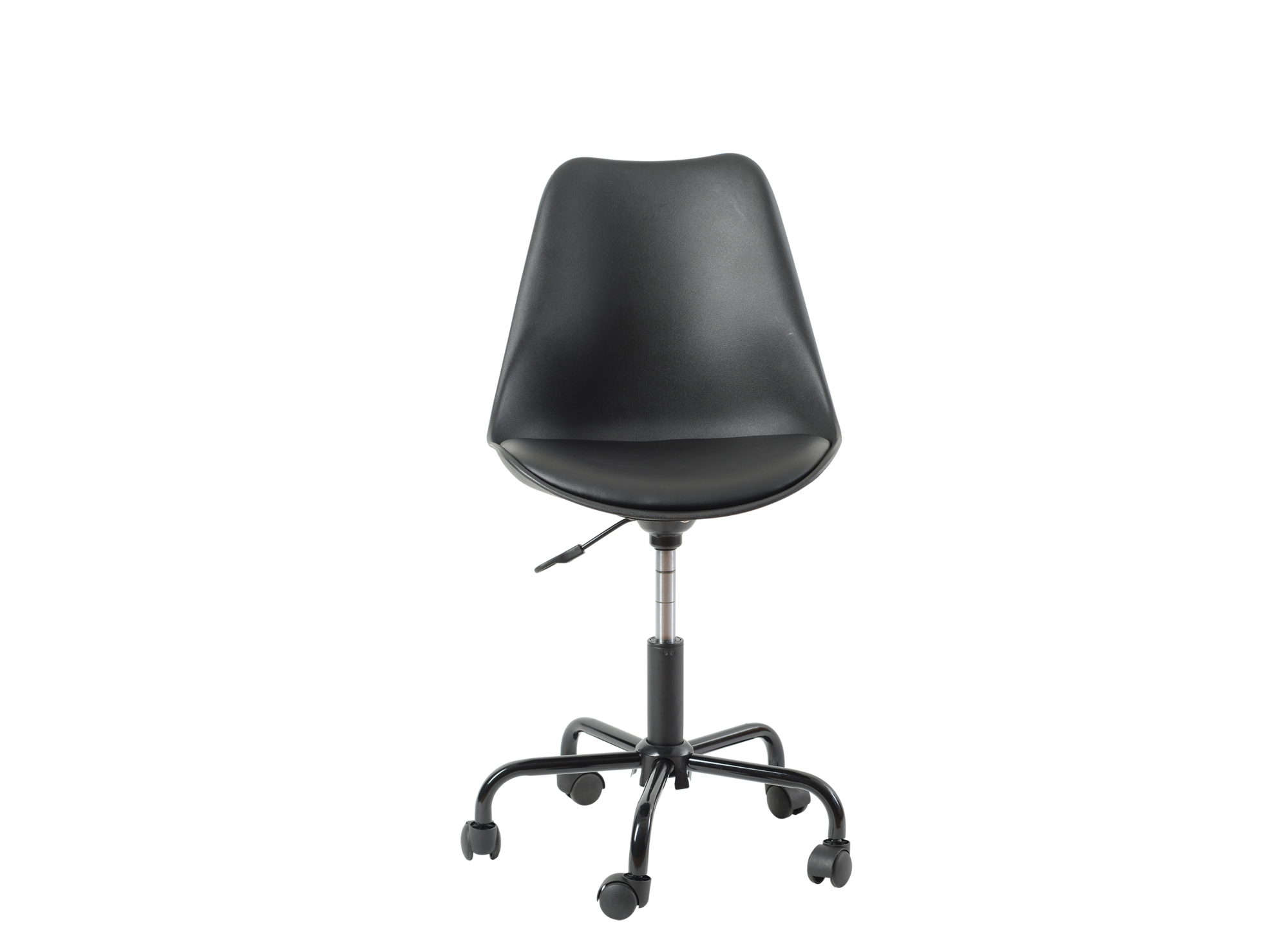 Chaise de bureau pu noir chaise de bureau bureau for Chaise noir fly