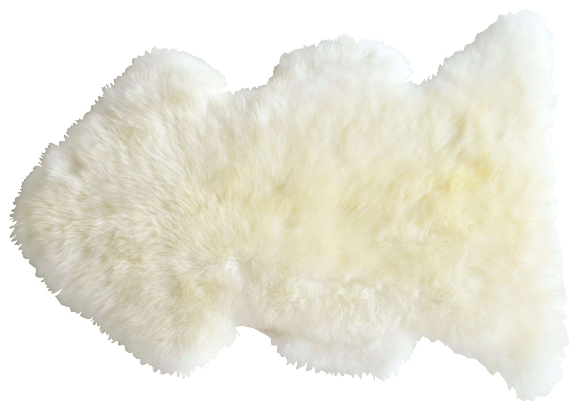 Tapis laine peau de mouton 75x110 blanc Tapis chambre & salon