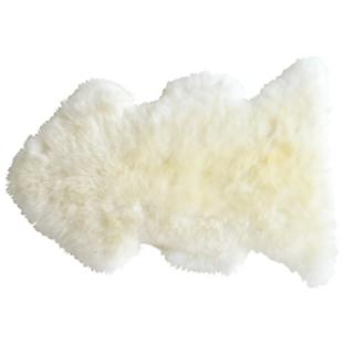 FLY-tapis laine peau de mouton 75x110 blanc