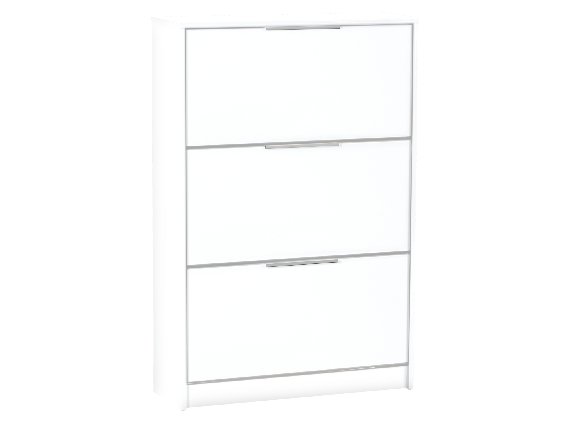 meuble chaussures 3 abattants blanc fly. Black Bedroom Furniture Sets. Home Design Ideas