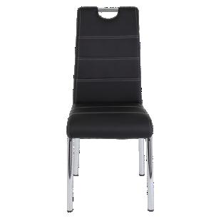 FLY-chaise chrome noir