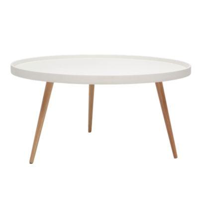 cool flytable basse blanche et hetre with table bistrot fly. Black Bedroom Furniture Sets. Home Design Ideas