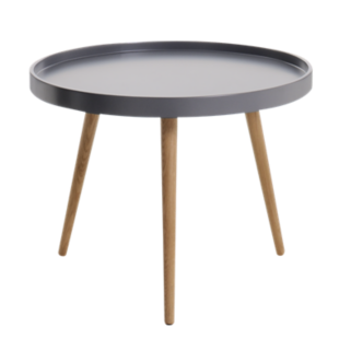 FLY-table basse taupe et hetre