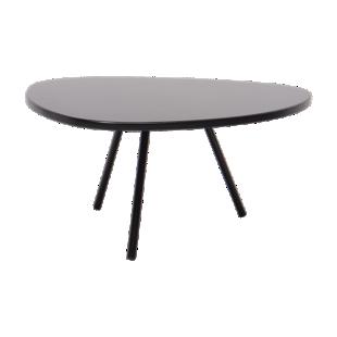 FLY-table basse hauteur 28cm noir mat