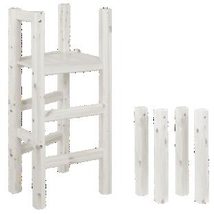 FLY-kit plateforme + pied/l h120 cm blanc