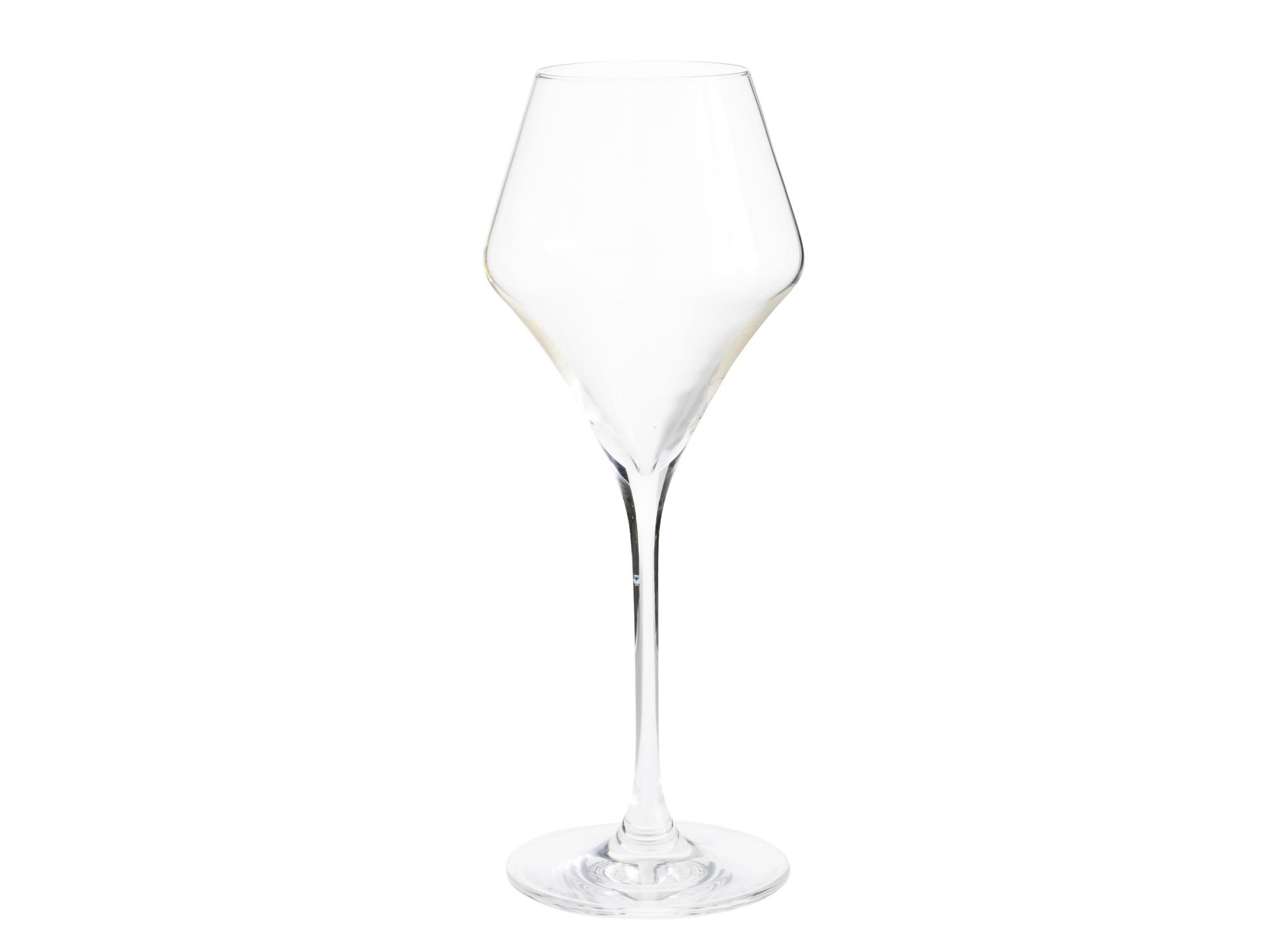 Verre a vin en verre cristallin brut coloris transparent contenance 3 ...