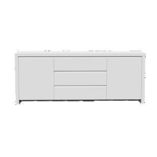FLY-bahut 2 portes 3 tiroirs laque blanc