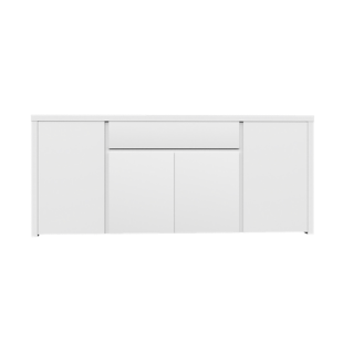 FLY-bahut bas 4 portes 1 tiroir laque blanc