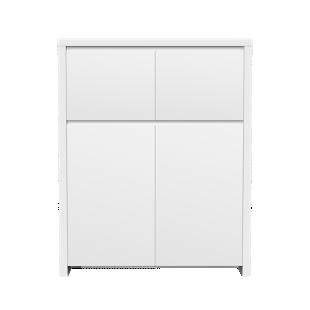FLY-rangement 4 portes laque blanc