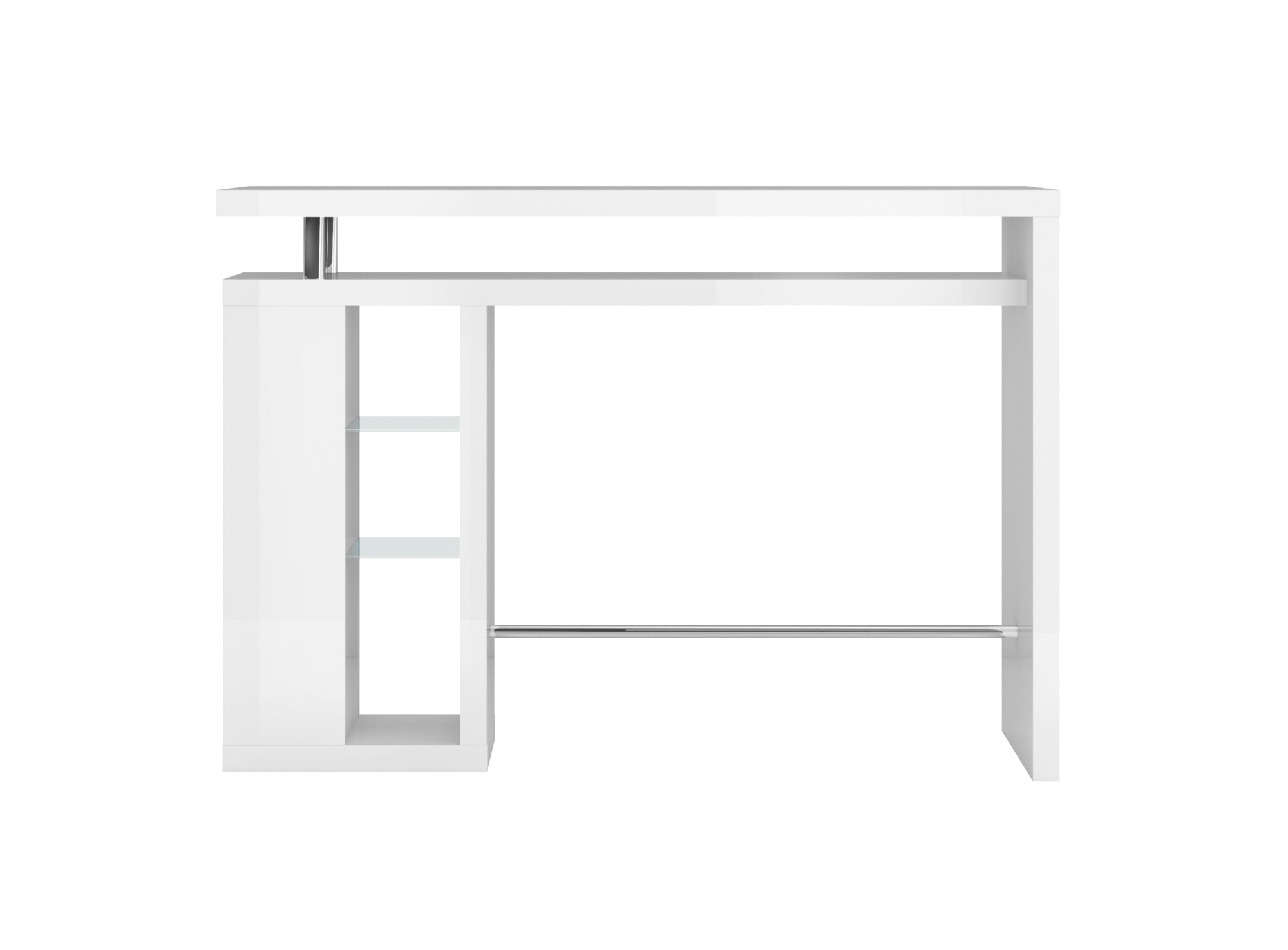 Bar etagere verre laque blanc bar table chaise for Meuble bar laque blanc
