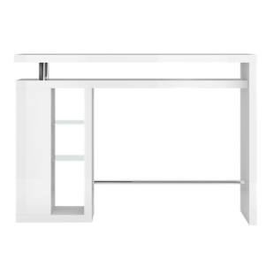 FLY-bar/etagere verre laque blanc
