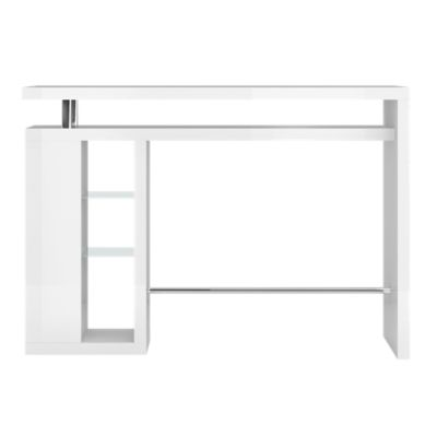 Nice Bar/etagere Verre Laque Blanc | FLY