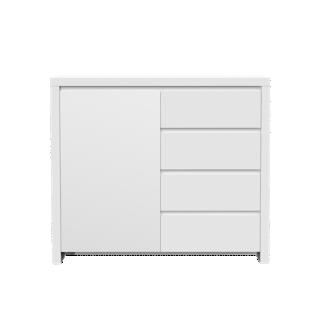 FLY-rangement 1 porte 4 tiroirs laque blanc