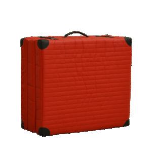 FLY-lit d'appoint coloris rouge/coins pu noir