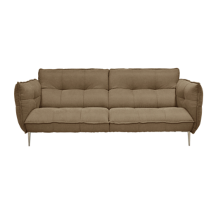 FLY-canape fixe 3 places tissu coloris taupe