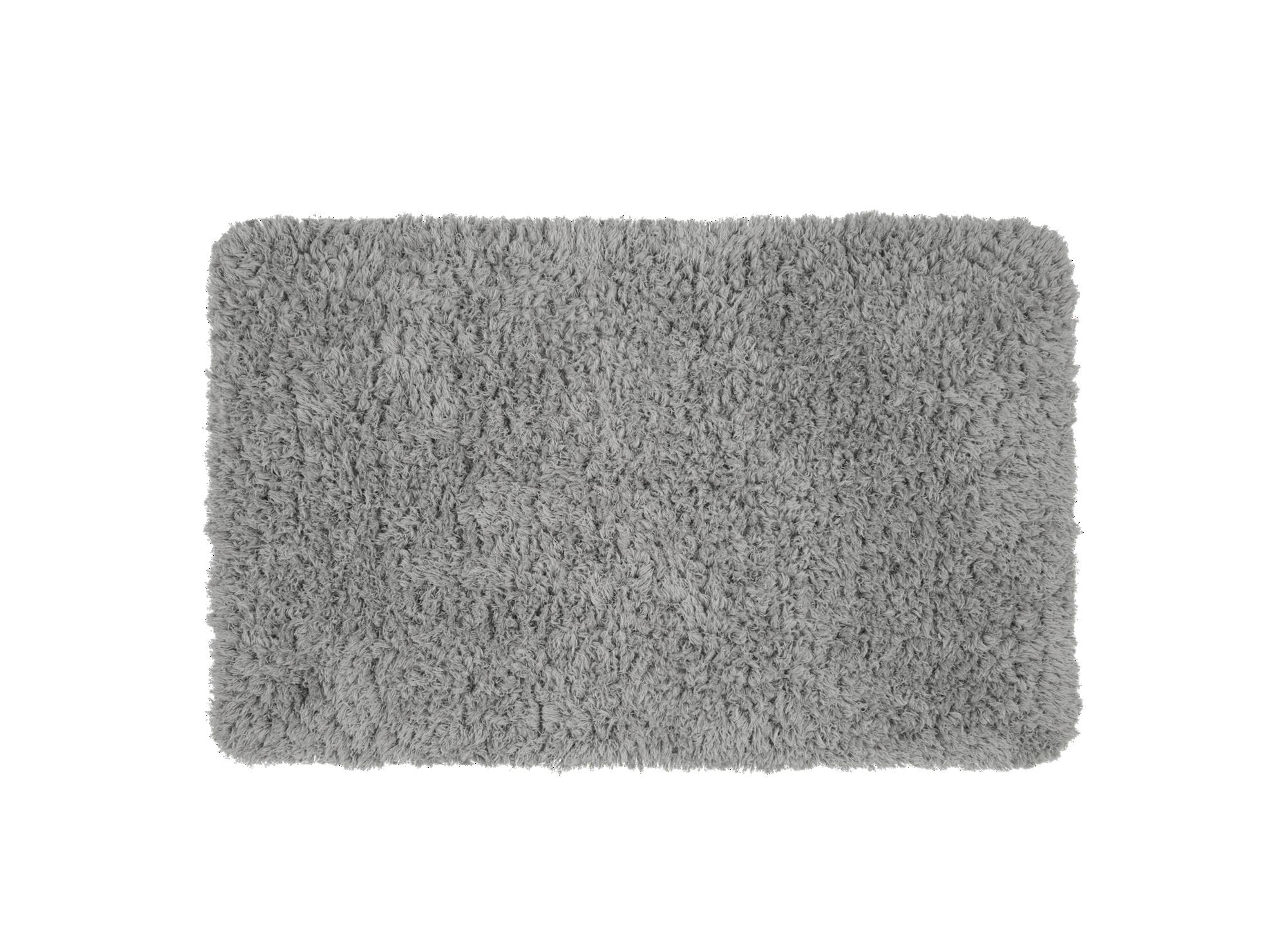 Tapis 50x80 100% polyester coloris gris densite 1100gr/m2  lavable ma ...