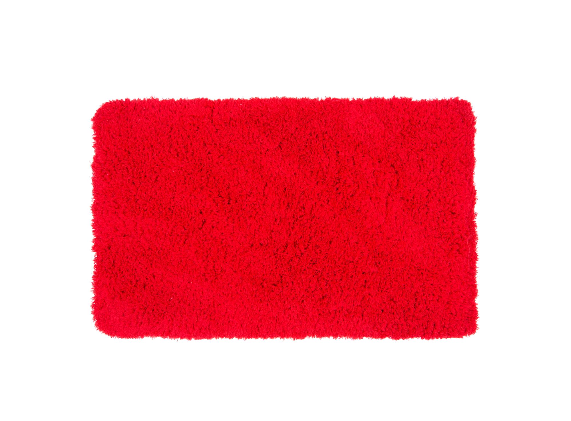 Tapis 50x80 100% polyester coloris rouge densite 1100gr/m2 lavable m ...
