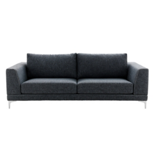 canape fixe 4 places tissu gris anthracite fly. Black Bedroom Furniture Sets. Home Design Ideas