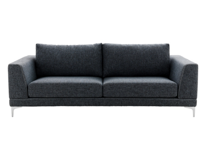 Canape 3 places tissu gris fonce fly - Canape gris fly ...