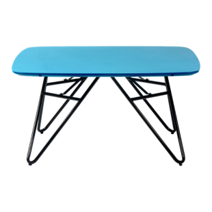 FLY-table basse plateau 80x80 cm turquoise