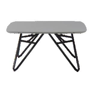 FLY-table basse plateau 80x80 cm gris