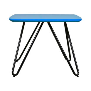 FLY-table basse plateau 50x50 cm turquoise