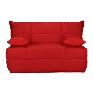 FLY-banquette type bz avec 2 coussins rouge