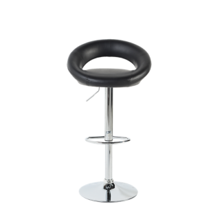 FLY-tabouret de bar chrome/assise noir