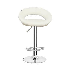 FLY-tabouret de bar chrome/assise blanc