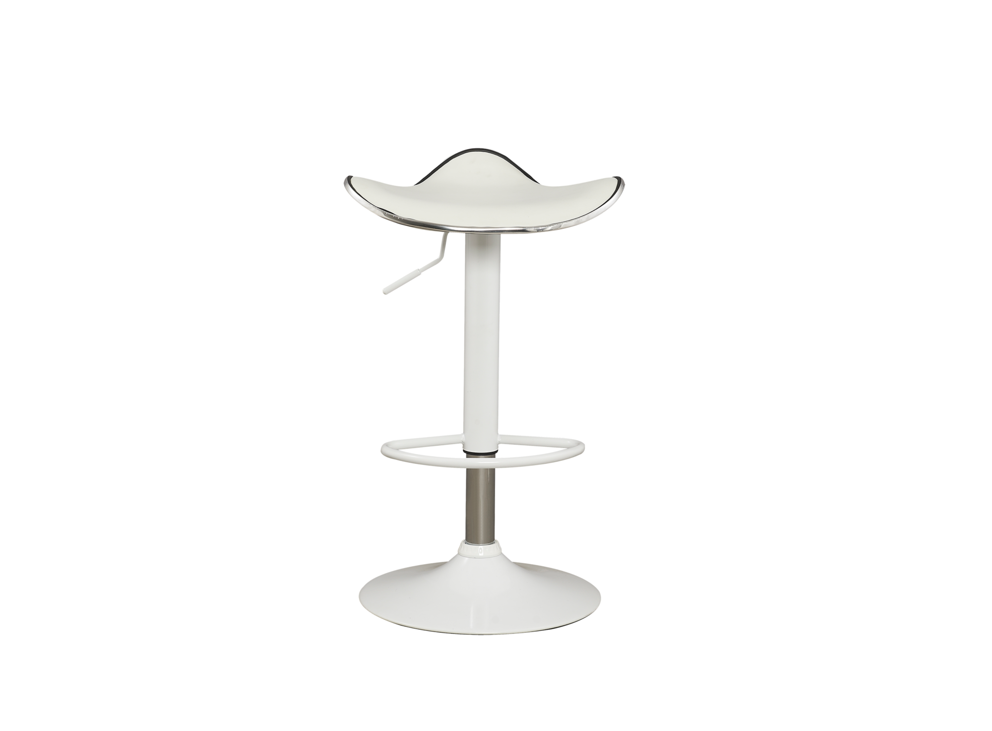 tabouret de bar blanc assise blanc fly. Black Bedroom Furniture Sets. Home Design Ideas