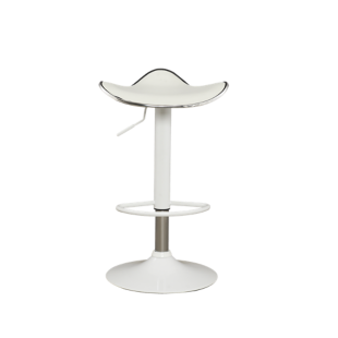 FLY-tabouret de bar blanc/assise blanc