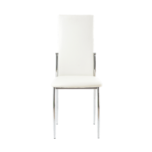 FLY-chaise blanche et chrome