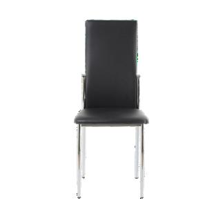 FLY-chaise noire et chrome