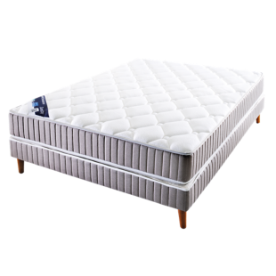 FLY-sommier tapissier lattes 90x200 taupe