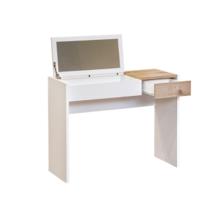 FLY-console coiffeuse blanc/chene