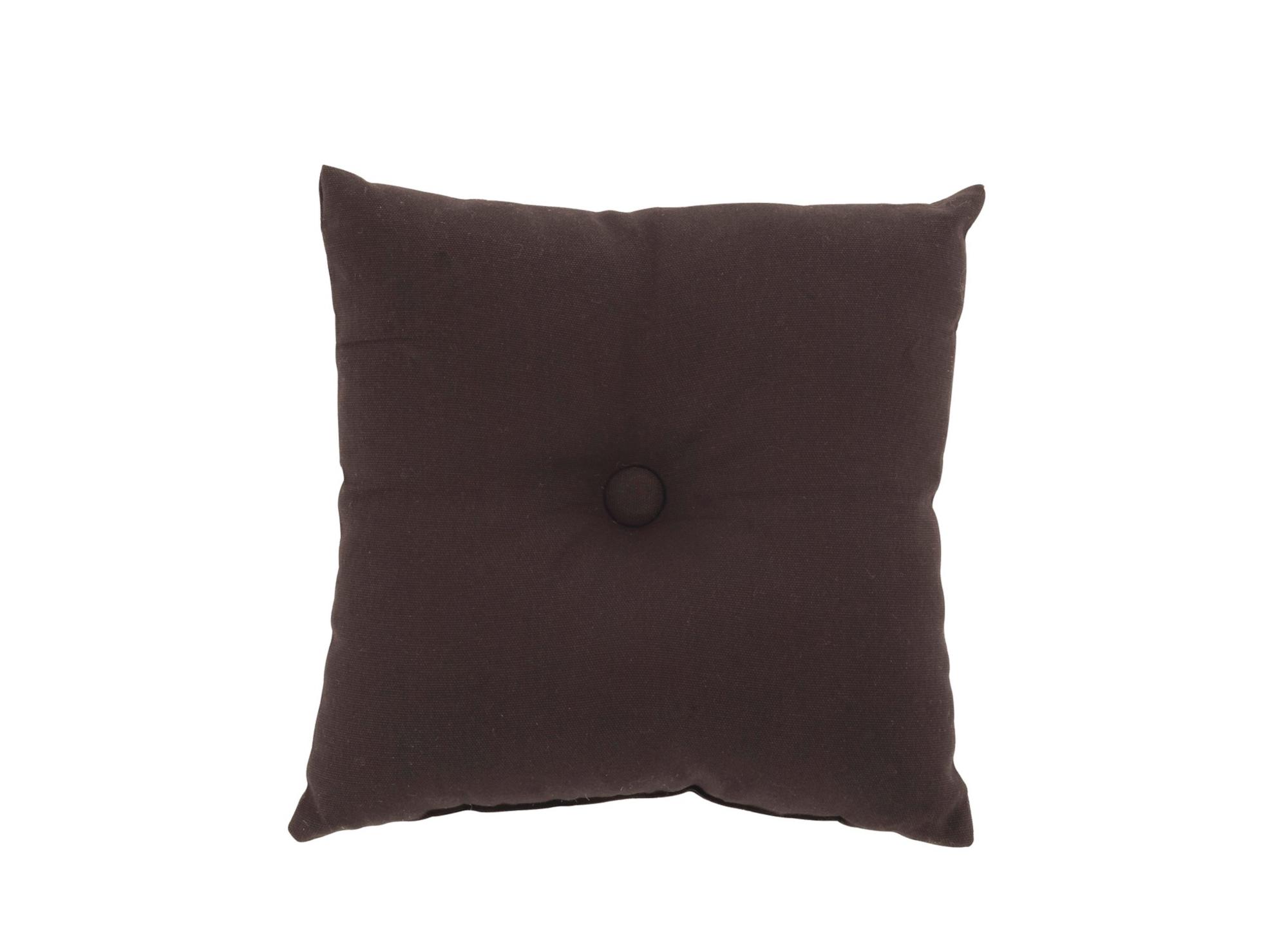 Coussin a bouton revetu 100% coton garni 100% polyester coloris noir  ...
