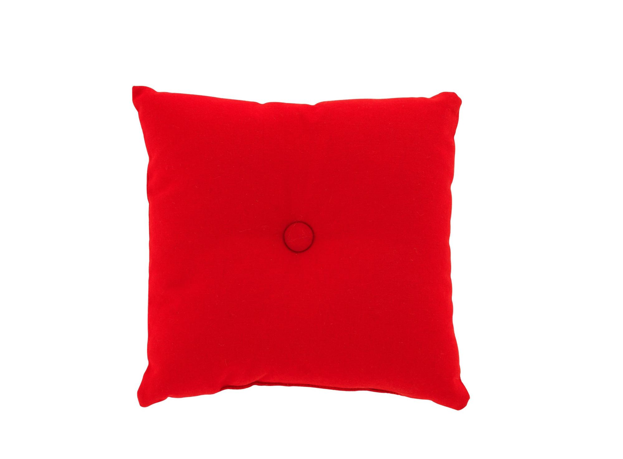 Coussin a bouton revetu 100% coton garni 100% polyester coloris rouge ...
