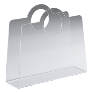 FLY-porte-revues pvc transparent