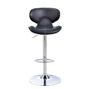FLY-tabouret de bar assise pu gris fonce