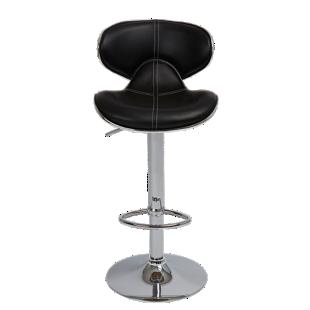 FLY-tabouret de bar assise pu noir