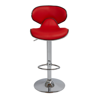 FLY-tabouret de bar assise pu rouge